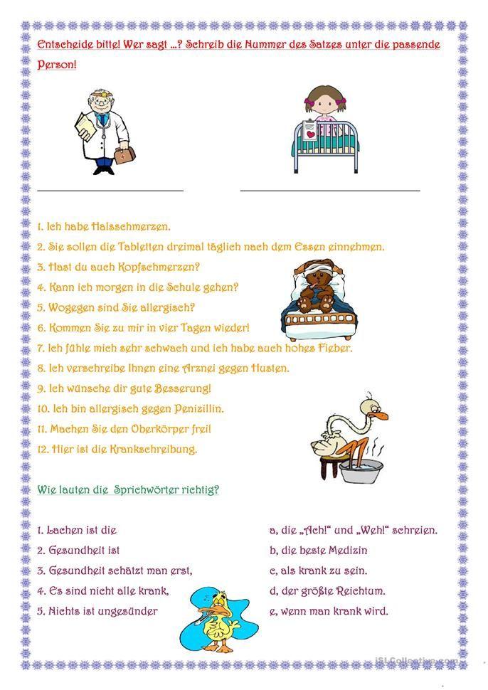 Beim Arzt | Worksheets