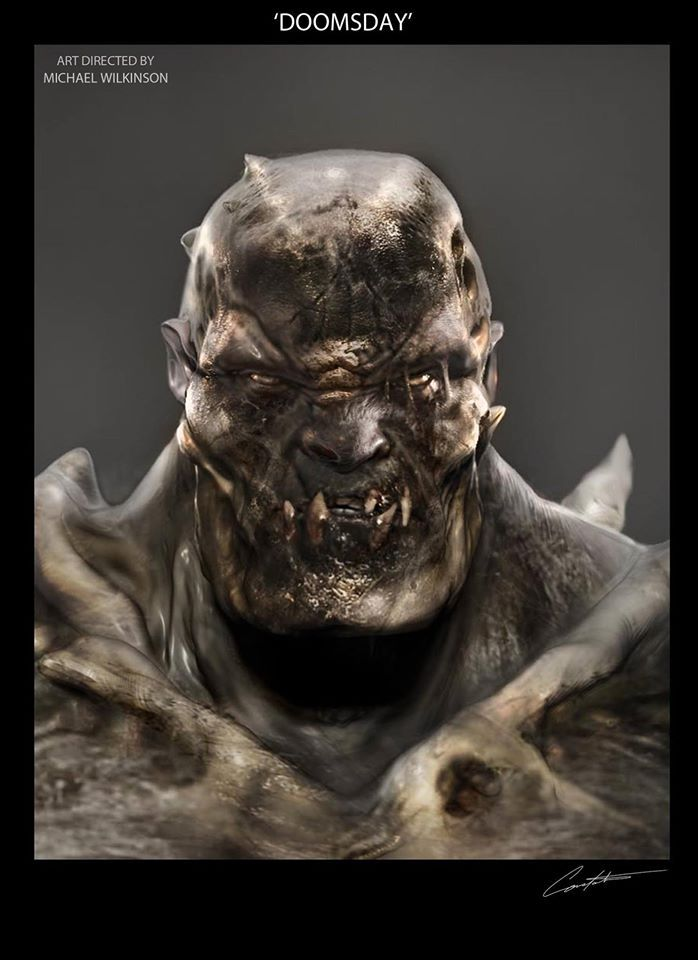 Doomsday Concept Art For Bvs Batman Batman Vs Batman Vs Superman