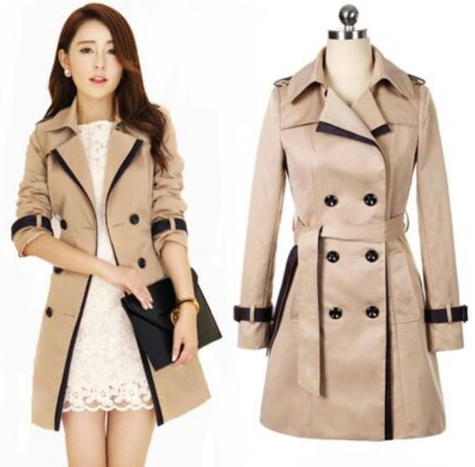 8708c0ec8 Details about New Fashion Autumn Winter Womens Slim fit Long Jacket ...