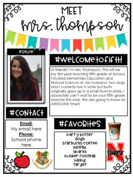 Meet the Teacher Template- EDITABLE #meettheteachernight