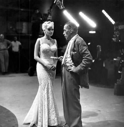 Jayne Mansfield and Ed Sullivan, 1950s. #vintage #glamour