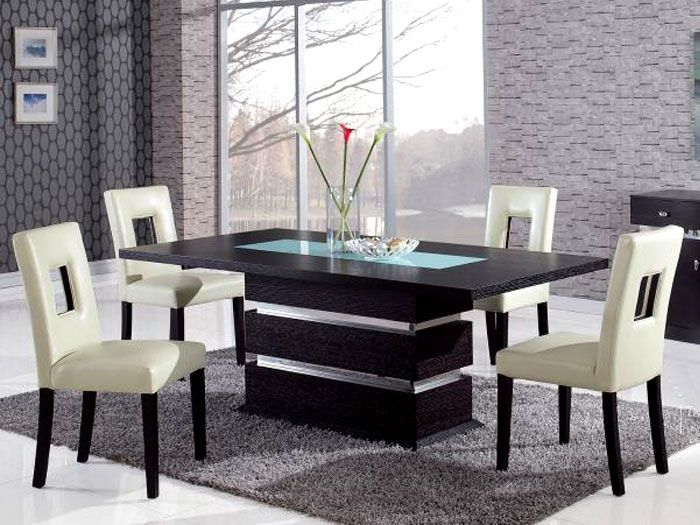 Conflex Rectangle Dining Table With 4 Seater Glass Dining Room