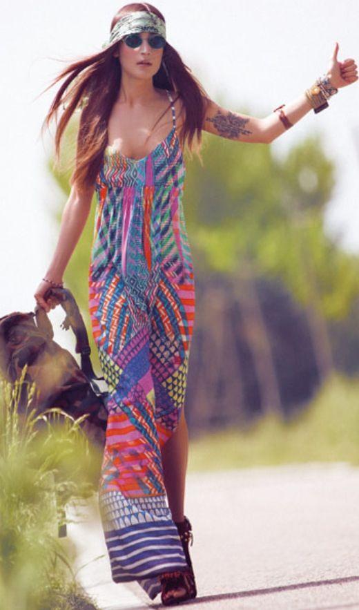 Vestiti lunghi stile hippie