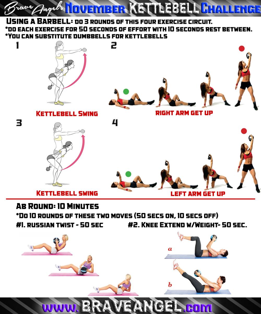 Full Body Kettlebell Workout For Beginners: Kettlebell Cardio & Full Body