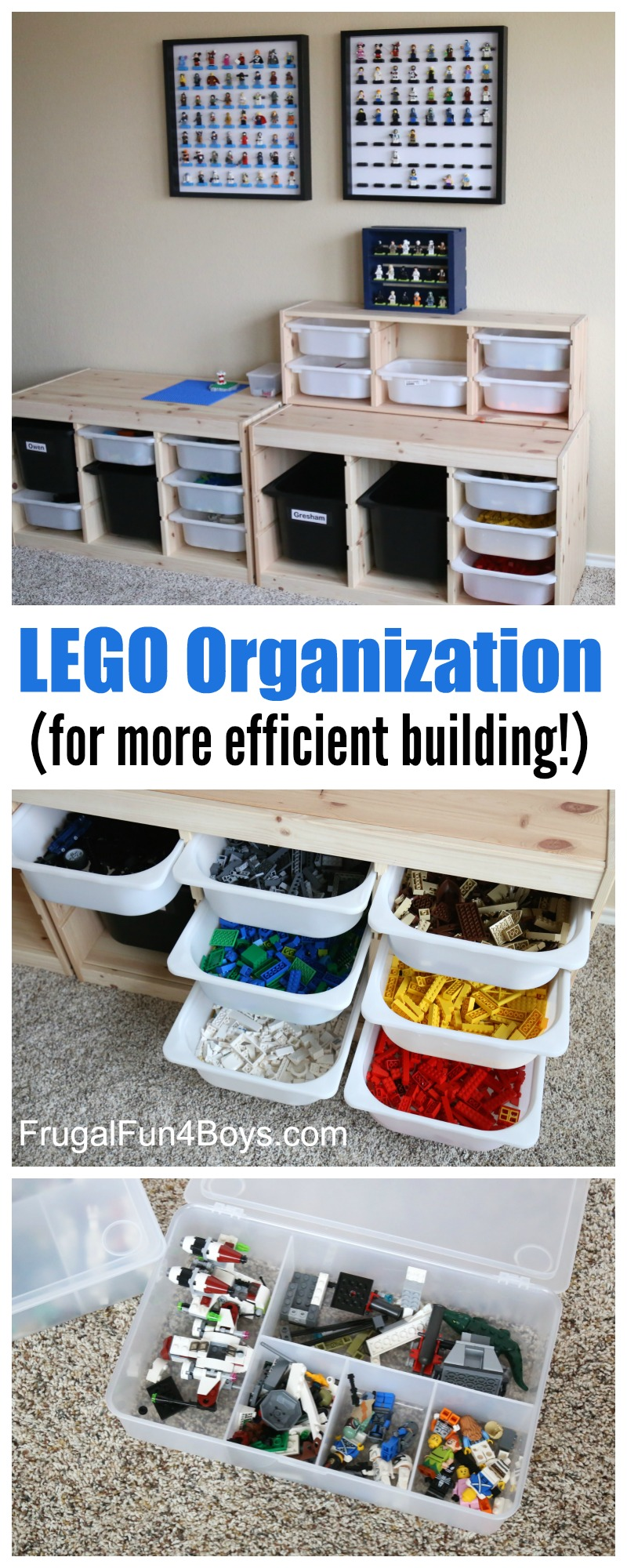 LEGO Storage and Organization for More Efficient Building - Frugal Fun For Boys and Girls