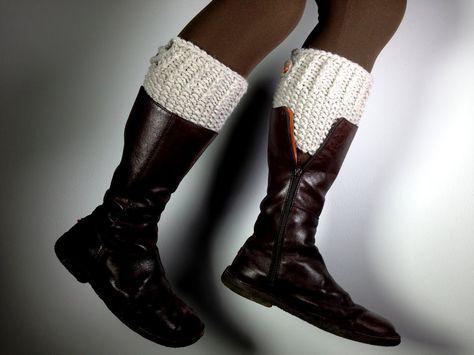 How To Loom Knit Boot Cuffs Diy Tutorial Tutorials Crochet
