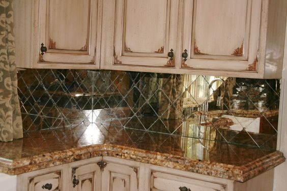 antiqued glass backsplash tile - google search | zkitchen