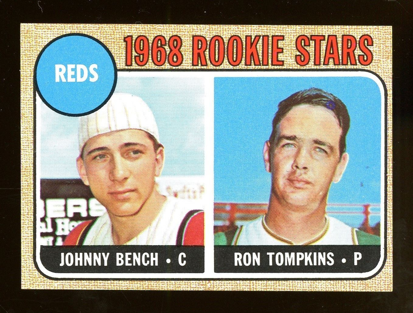 1968 topps 247 johnny bench cincinnati reds rc rookie hof
