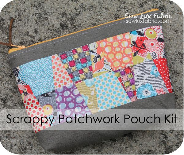 Scrappy Patchwork Pouch Kit
