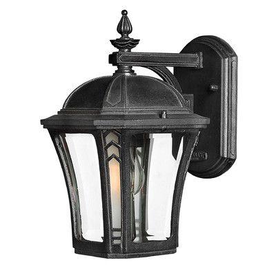 Hinkley Lighting Wabash 10 x 6.25 Outdoor Wall Lantern in Museum Black | Wayfair