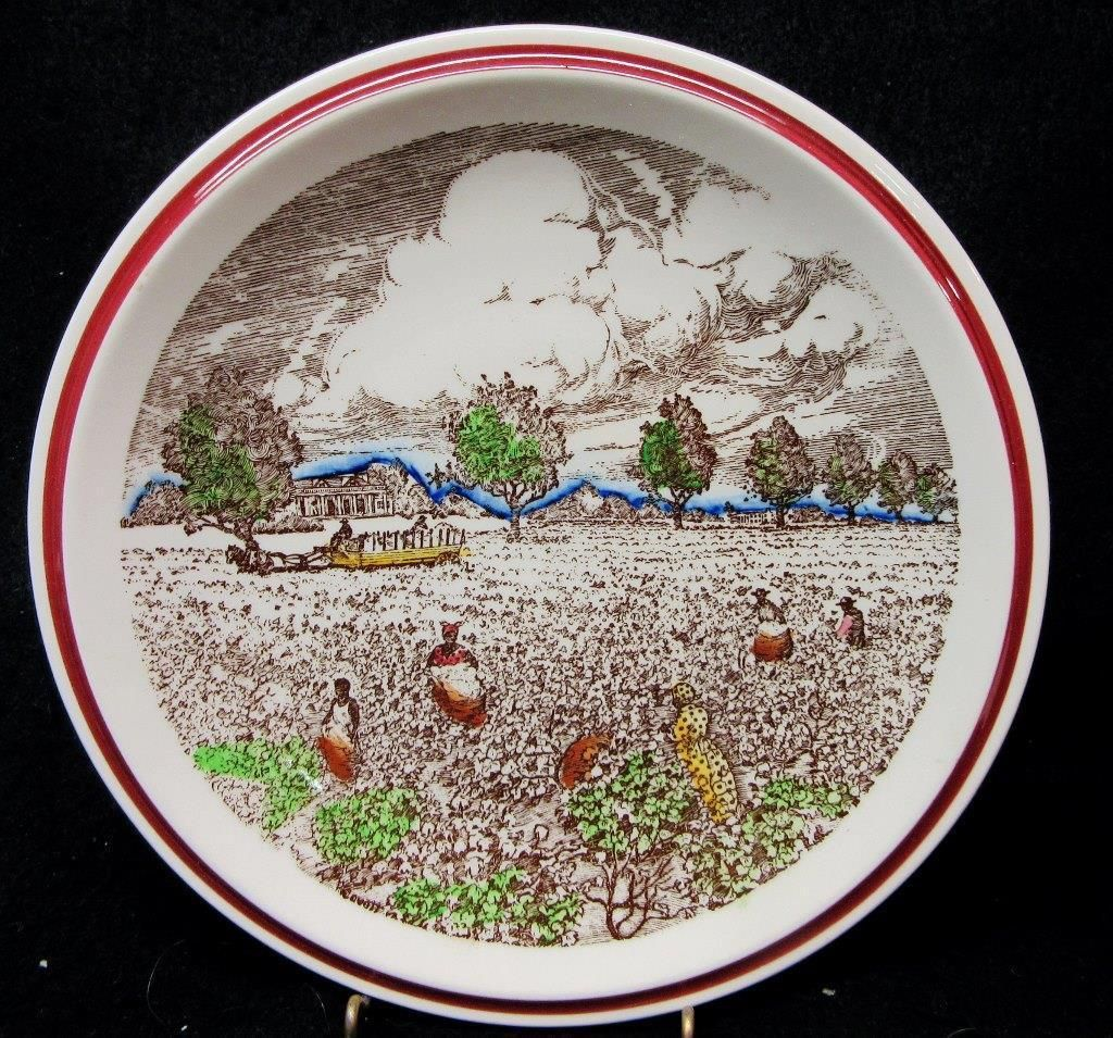 VERNON KILNS COTTON PATCH Collector PLATE, Bits of the Old