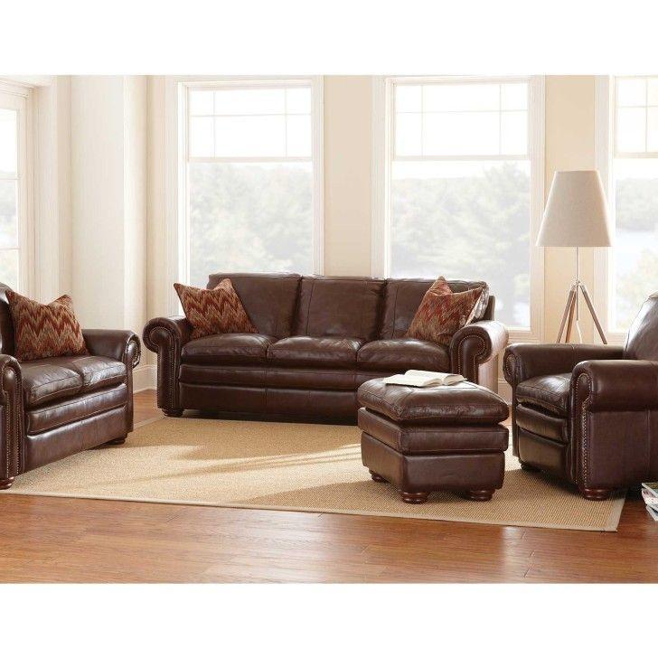 Furniture Good Quality Leather Sofa Best Quality Us Elegant Shape Sofa  Brown Laminate Flooring Brown Cushion