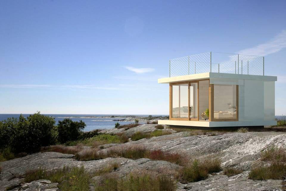 ANNEKS: Denne produsenten leverer nøkkelferdige hytter. Modellene TVH2 og KS1 Karlsson koster fra ca. kr 350 000.