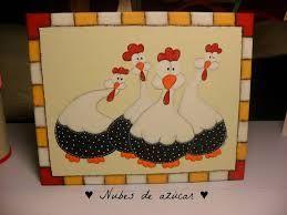 Resultado de imagen para pintura country gallinas  Aves