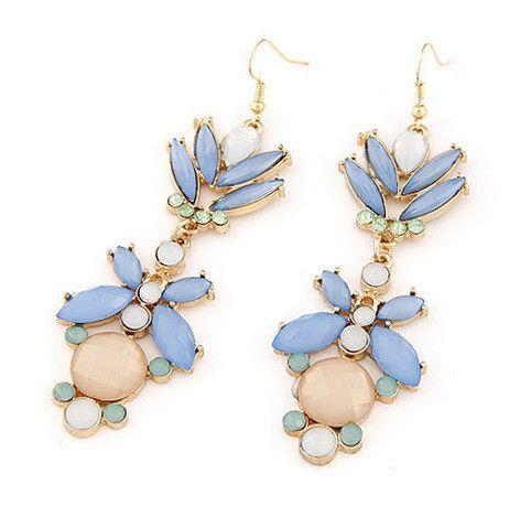 Blue Oversized Earring