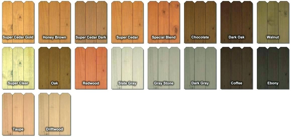 Cedar Fence Stain Colors Hi Tech And Seal Deck Sealer Best Home