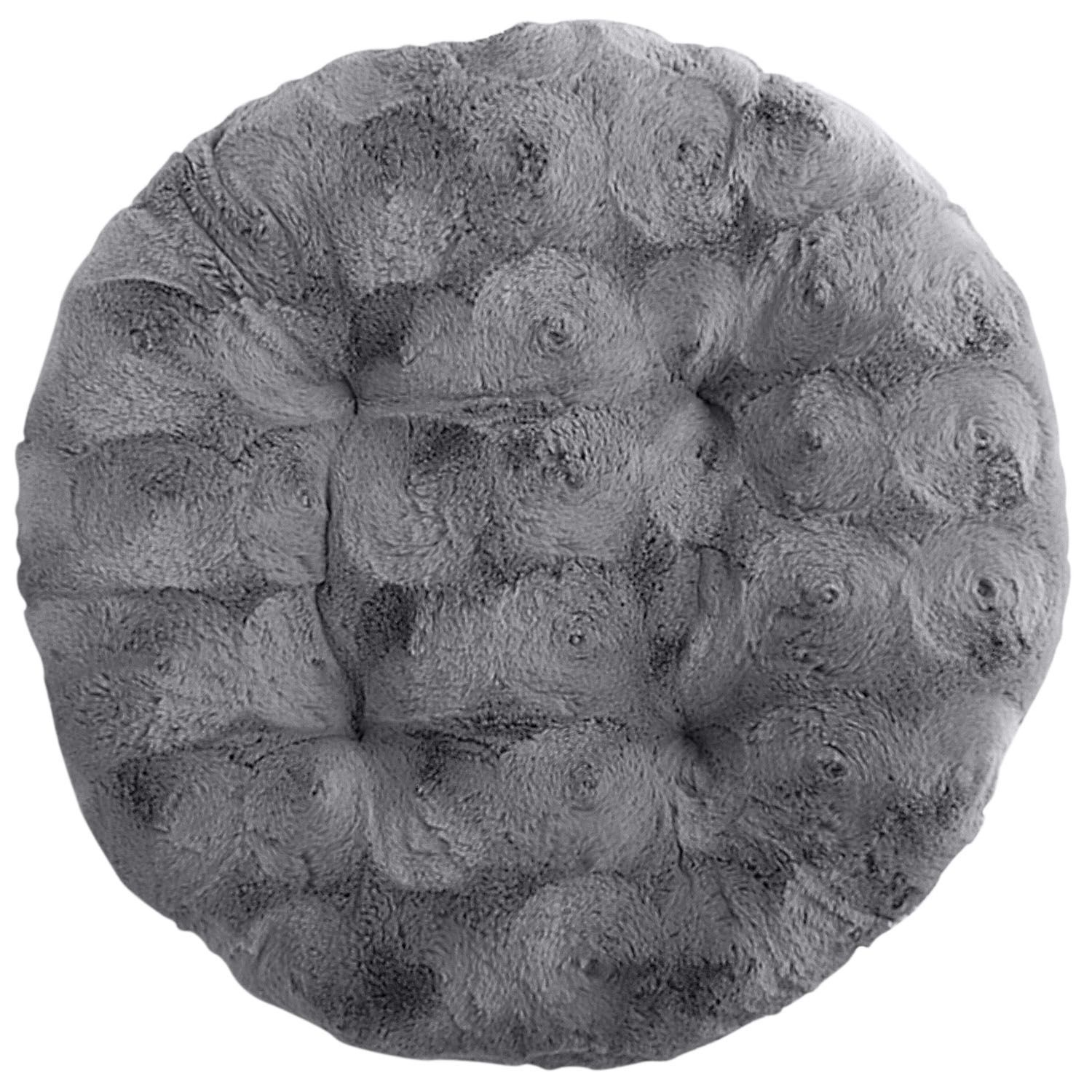 papasan chair stool cushions fisher price spacesaver high cover fuzzy charcoal cushion products pinterest gray