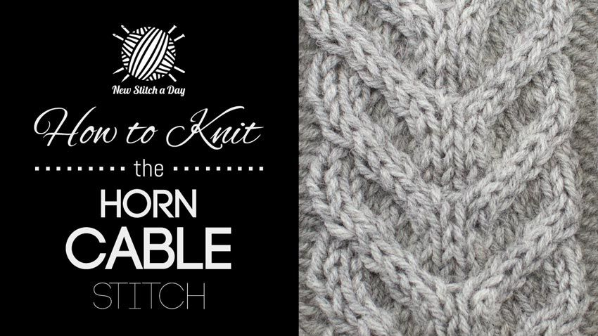 How to Knit the Horn Cable Stitch   Knitting Stitches   Pinterest ...