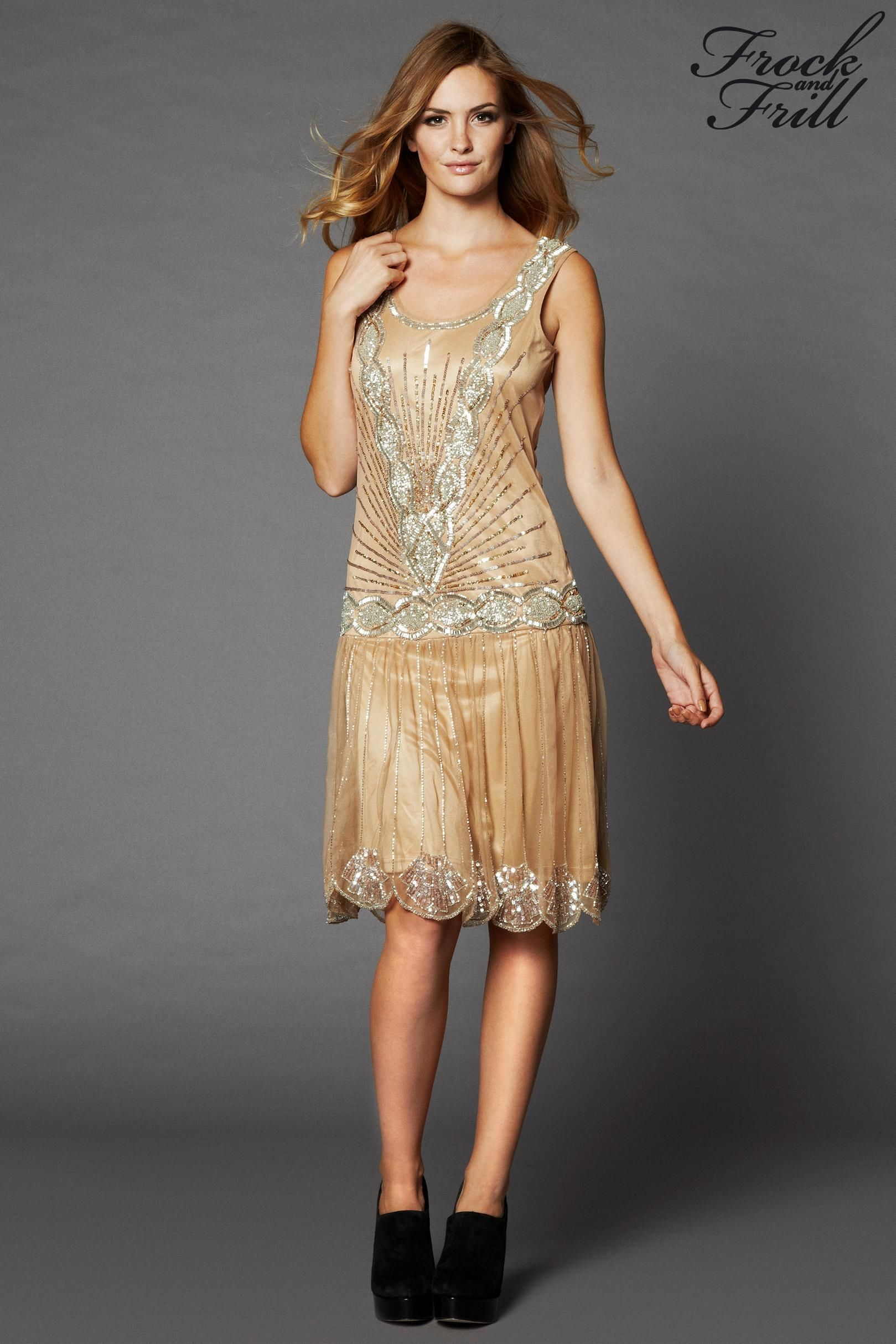 Buy Frock And Frill 1920\'s Drop Waist Dress from the Next UK online ...