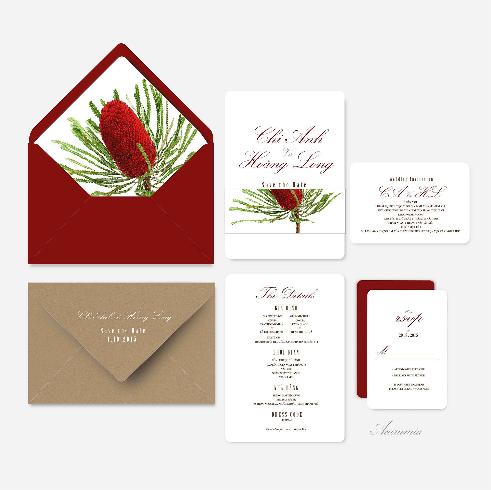 Banksia Small | Wedding Invitations Card | Pinterest | Wedding ...