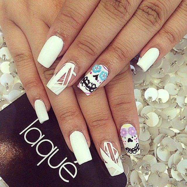 Nail art☻Sugar skulls♥