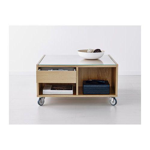 Boksel coffee table oak veneer ikea belfast apartment table ikea furniture - Table a roulettes ikea ...