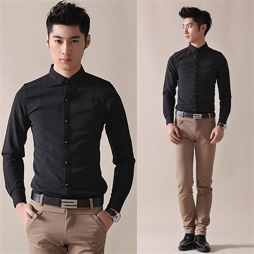 Fashion Casual Jeans for Men Slim Skinny Jeans Star Print Design ...