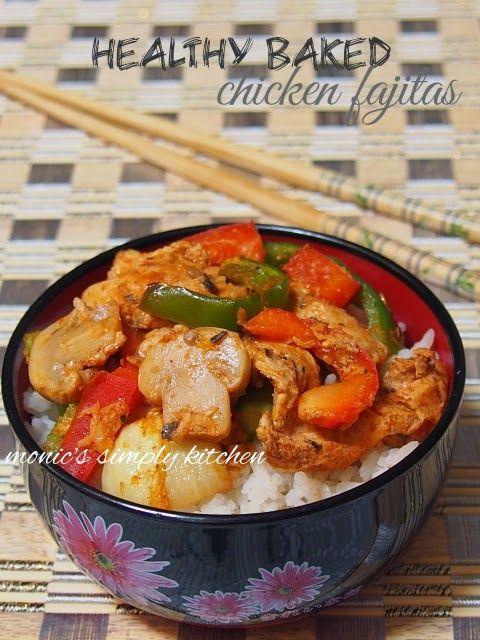 Diet Rendah Garam 16 Chicken Fajitas Panggang Fajitas Ayam Resep Masakan