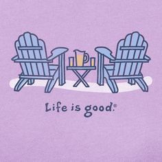 Life Is Good Adirondack Chair Drawing   Google Search