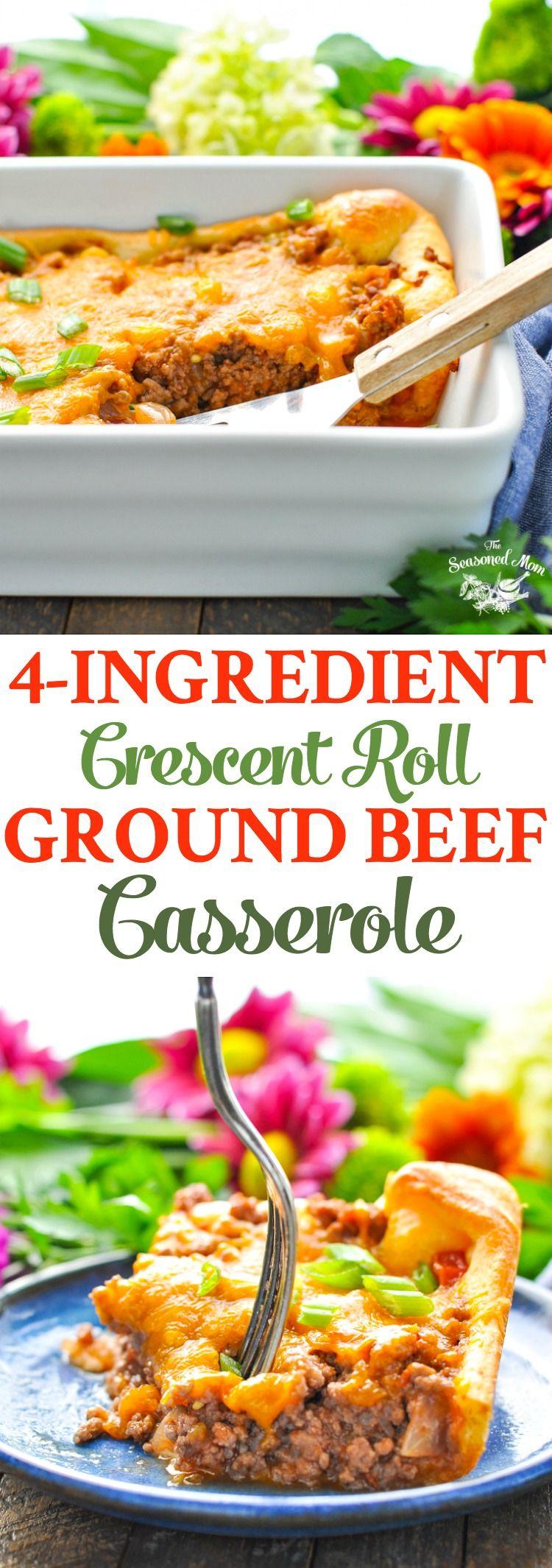 4 Ingredient Ground Beef Casserole Recipe Beef Casserole Recipes Ground Beef Casserole Recipes Easy Casserole Recipes