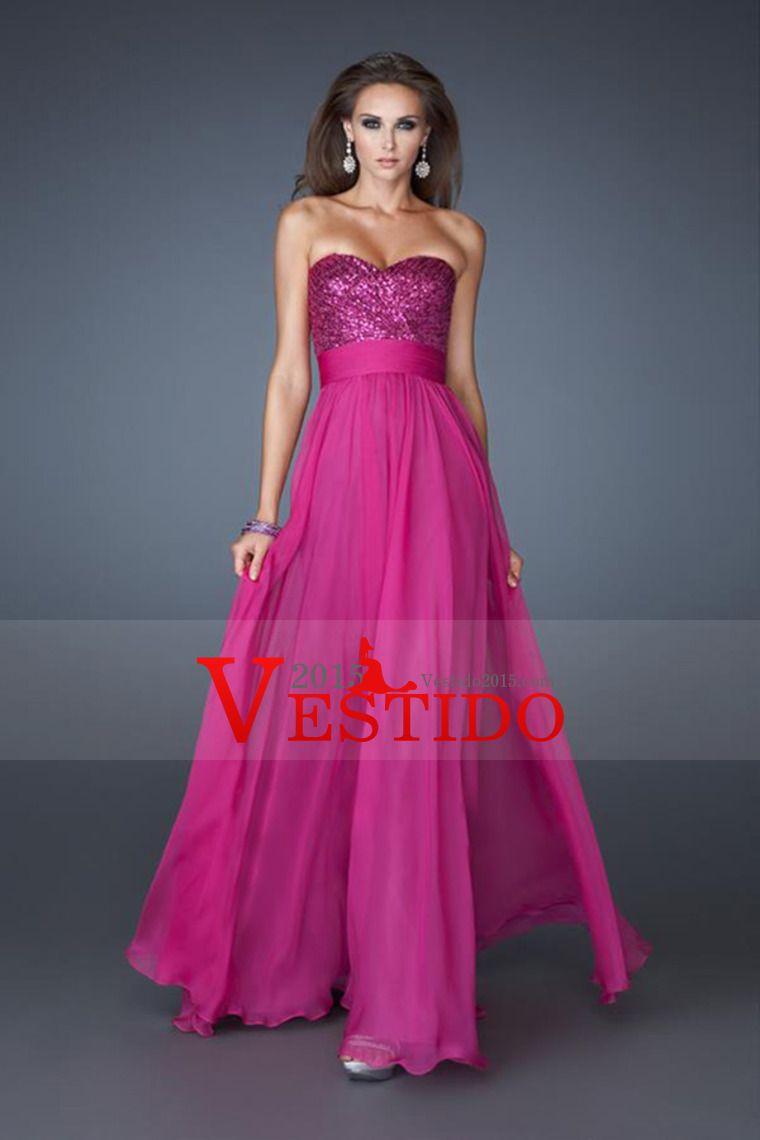 2014 cariño una línea de vestido de fiesta con cuentas Corpiño Con ...