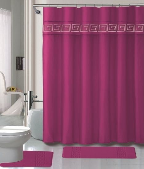 Luxury Bathroom Shower Curtains Luxury Hot Pink Memory Foam