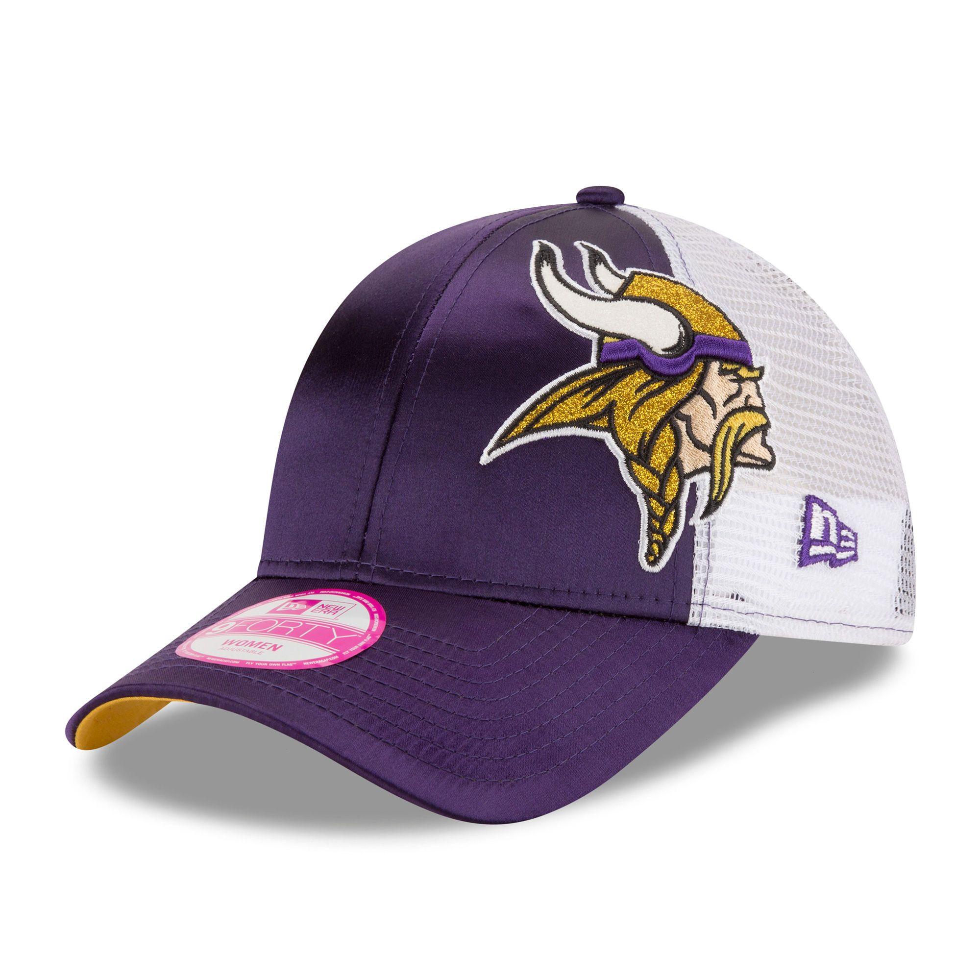 4854f2ffee5 Minnesota Vikings New Era Women s Team Glitzer 9FORTY Adjustable Hat -  Purple