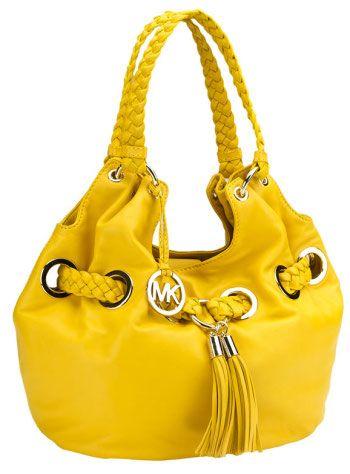 58a46ad4f6fb Michael Kors Yellow Handbag | Bag Lady | Bags, Handbag stores ...
