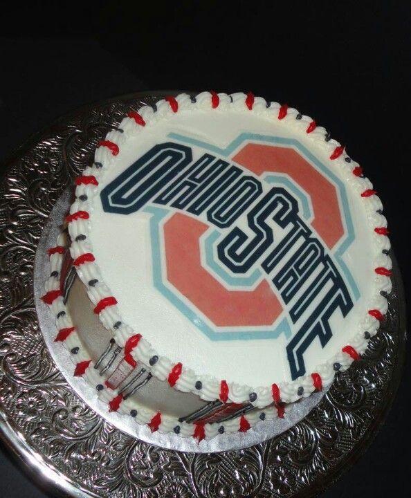 Ohio State Buckeyes Birthday Cake Ohio State Cake Graduation