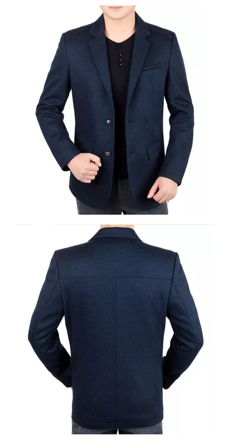facb77bb9 HANDSOME PLAYBOY BUSINESS SOLID WOOLEN COOL MENS BLAZER Color: blue  Pattern: solid Material: