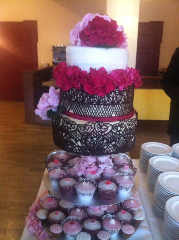 Wedding cake for my cousin and his wife...