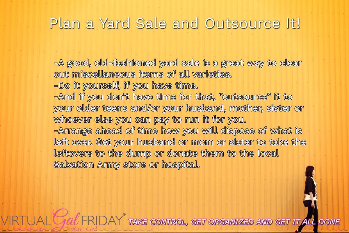 Everybody loves a good garage sale destress Business
