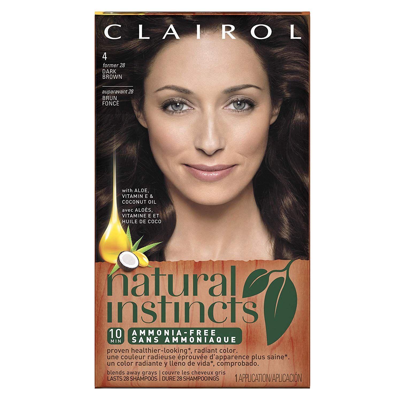 Clairol natural instincts nutmeg dark brown semipermanent