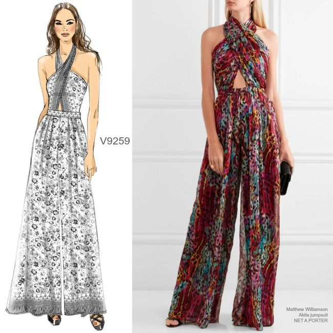 87a2391a7cc3 Sew the Look  Vogue Patterns V9259 HALTER JUMPSUIT sewing pattern ...