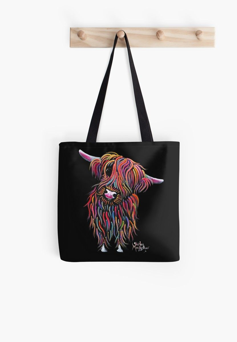 Scottish Highland Cow Bolly By Shirley Macarthur Tote Bag