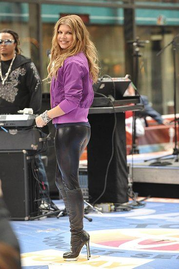 Fergie On Leather Pants Fergie Boots