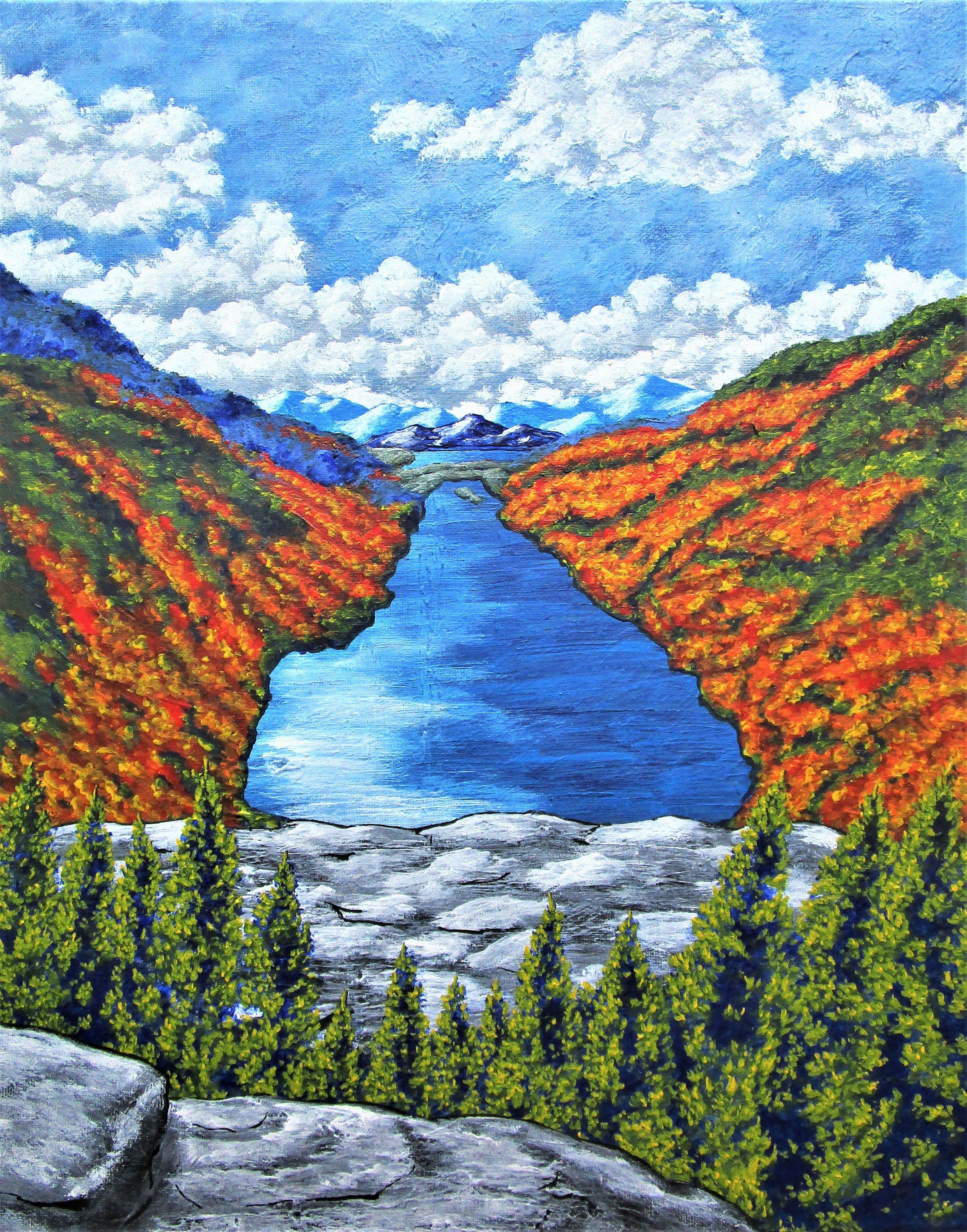 A view of the blue mountains of the adirondacks original
