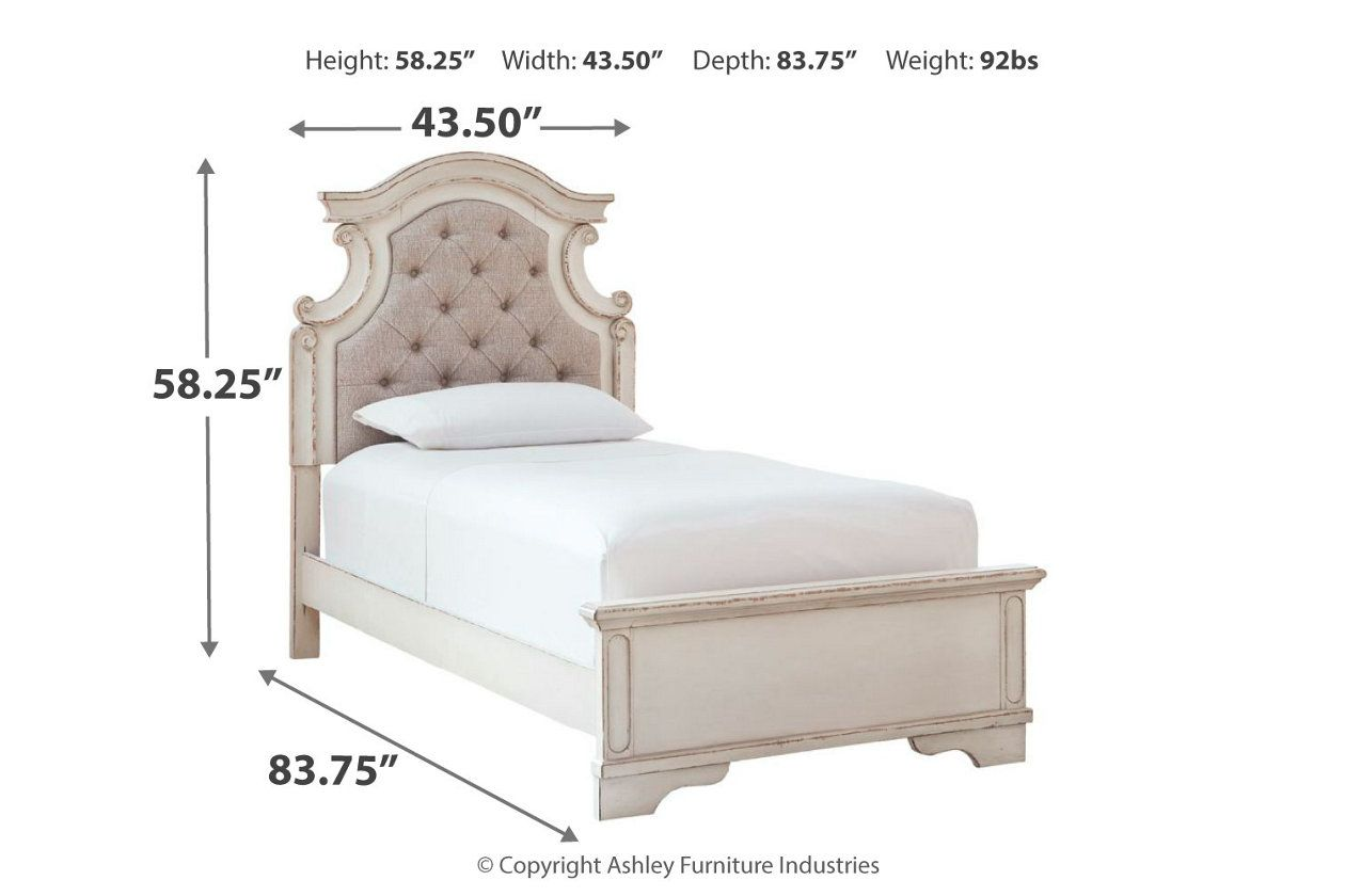 Realyn Queen Upholstered Panel Bed | Ashley Furniture ...