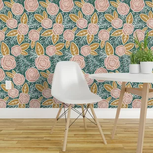 Peel And Stick Removable Wallpaper You Ll Love In 2020 Wayfair Wallpaper Panels Stick On Wallpaper Floral Wallpaper