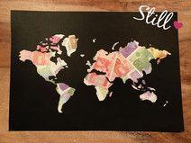 Geldgeschenk Weltkarte Hochzeit Geschenk Geld Geldgeschenke