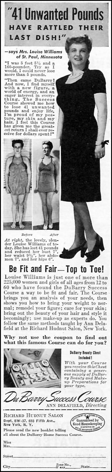 DUBARRY SUCCESS COURSE WOMAN'S DAY 09/01/1945 p. 95