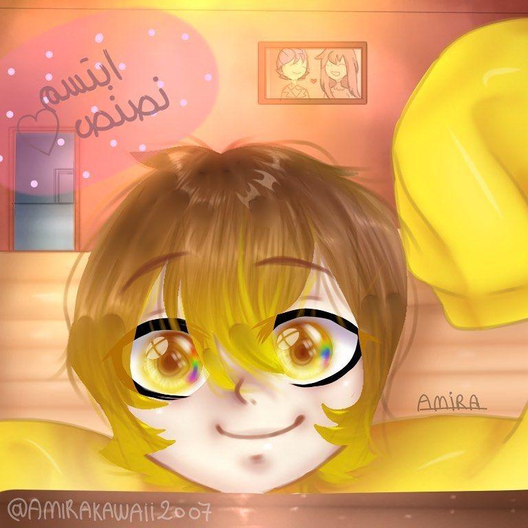 و يب اخيرا رسمت رسمة لنصنص ما بوي Unu Uwunasser ايديت ابو الروب رسم قاشالايف يانديري قيمر Ibispaintx Anime Yanderesimulator Yander Art Anime