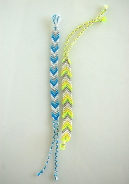 Instructions on how to make a chevron friendship bracelet