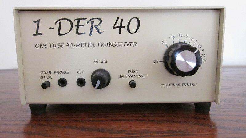 one tube 40m transceiver